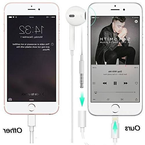 Bsttop Lightning Headphone Jack Dongle for X/iPhone Plus iPod Touch iPad Connector Aux Support iOS 10.3 11 Later