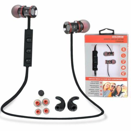Noise Cancelling Silicone Bluetooth Earbuds Rechargeable Han