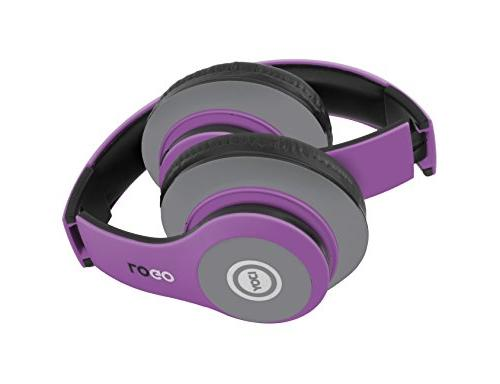 iJoy Matte Rechargeable Wireless Bluetooth Over Headphones with Mic,