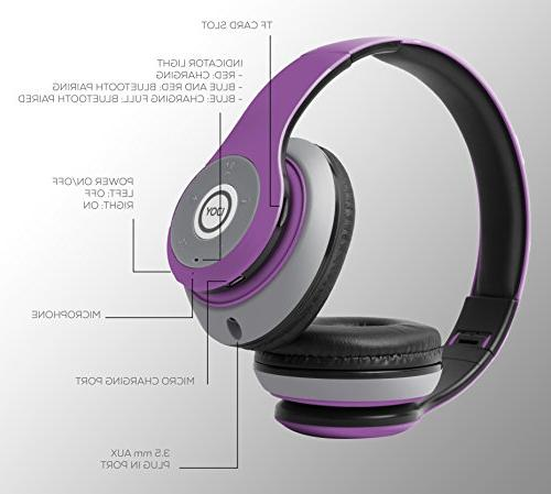 iJoy Bluetooth Foldable Ear Headphones with EDM