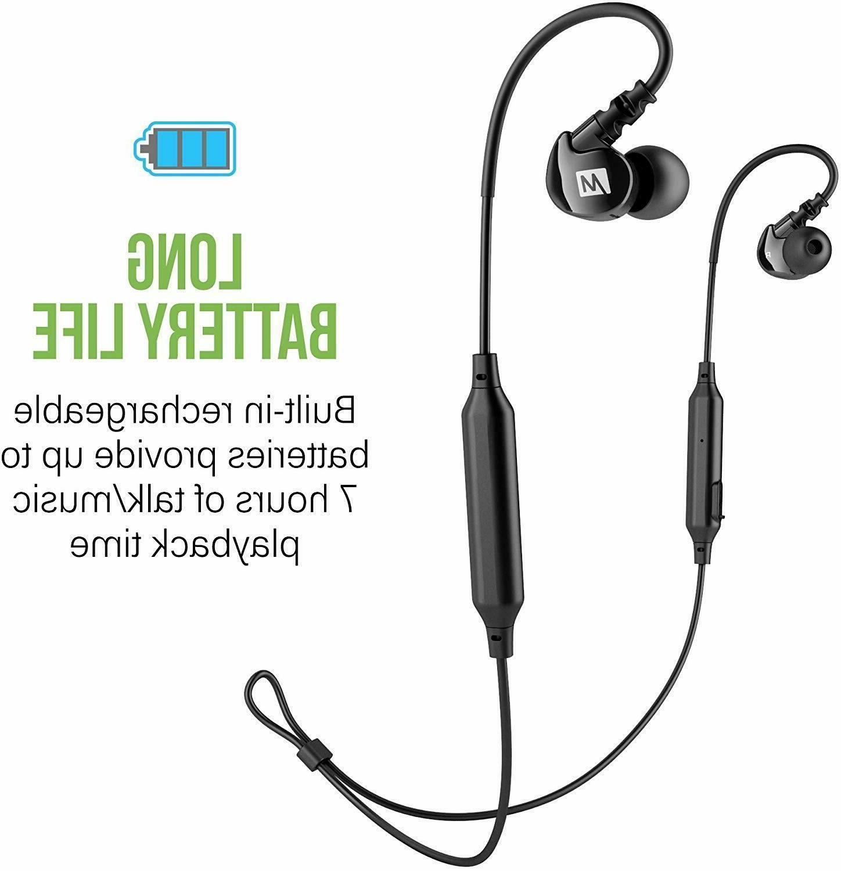 MEE audio M6B Bluetooth Wireless Sports In-Ear Headphones EP-M6