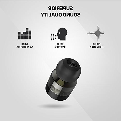 Rowkin Micro: Earbuds w/Charging Bluetooth Headphones Mini & Noise Android, Samsung & iPhone