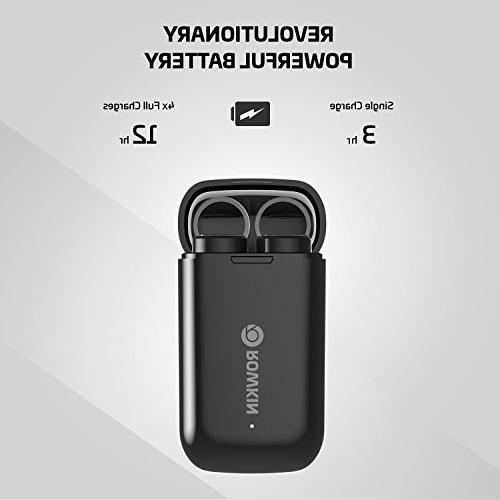 Rowkin Wireless Earbuds w/Charging Headphones Cordless Hands-Free Mini Headset w/Mic & Noise Android, & iPhone