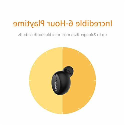 FOCUSPOWER F10 Mini Bluetooth Earbud Smallest Wireless Headphone 6 Hour Playtime Car with Mic and Android Smart Phones
