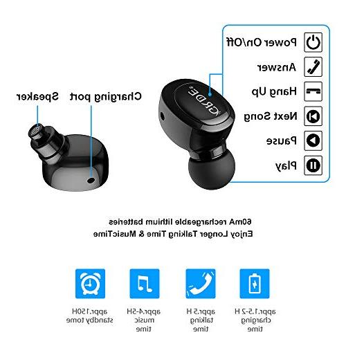 Mini Headphone, V4.2 Bluetooth Earbud Smallest Invisible with with V2.1 for 8 X Samsung and Smart