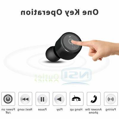 Mini Twins Bluetooth Earphones Super Bass Stereo Headset