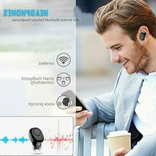 Mini Wireless Bluetooth Headphones Mic&Charging Box
