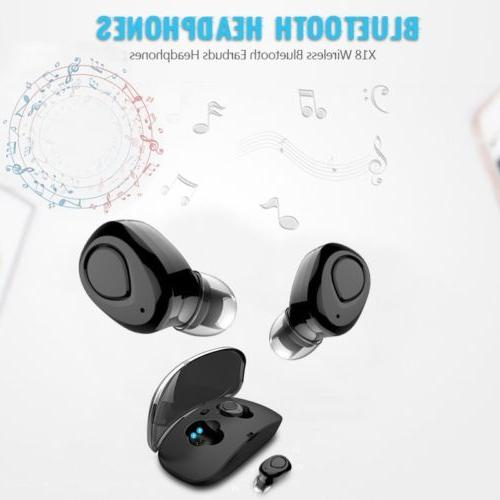 Mini Wireless Bluetooth Sweatproof w/ Mic Charging Box