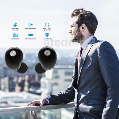 Mini True Wireless Earbuds Earphone Sports Headset Black