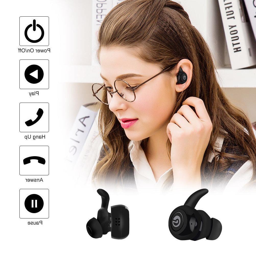Mini True Wireless Bluetooth Earbuds In-Ear Stereo Earphones