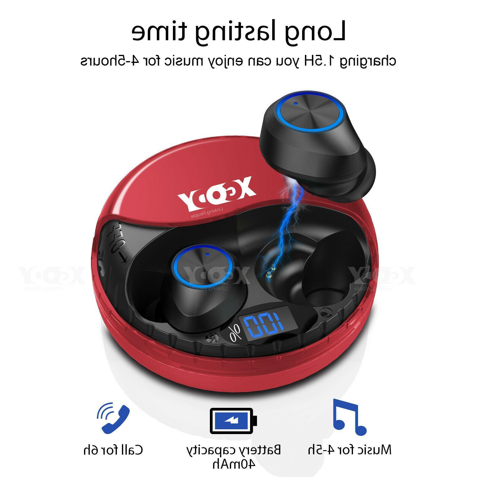 Mini Wireless Bluetooth 5.0 Earbuds w/Mic True Bass Twins St