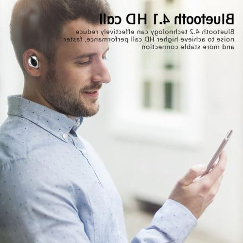Mini Earbuds In-Ear Stereo Bass Earphones Headset Charger