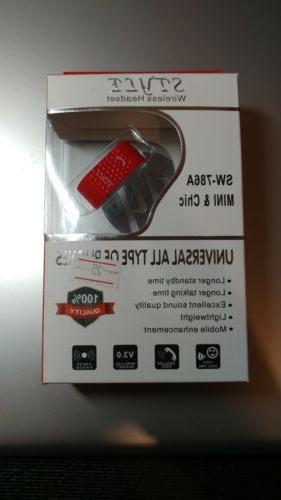 Mono Wireless Bluetooth Headset Handsfree Car Kit Earbud Min