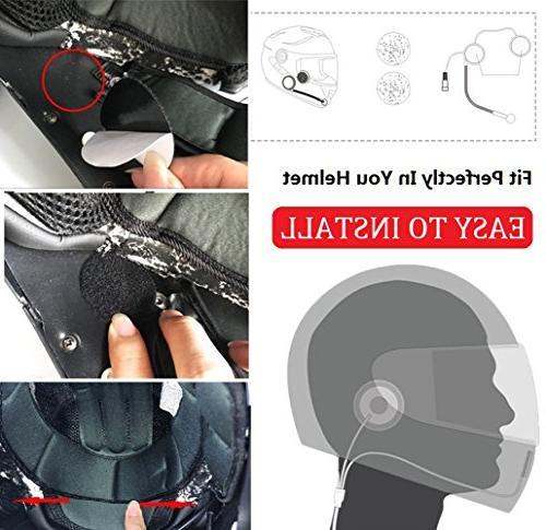 NikoMaku Motorcycle Helmet Earphone for Helmets with for