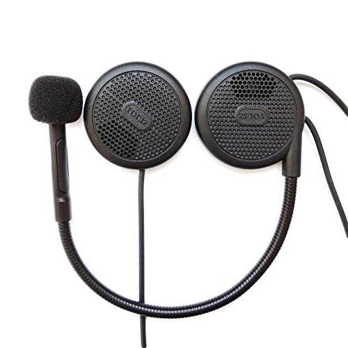 motorcycle bluetooth headphones slim helmet