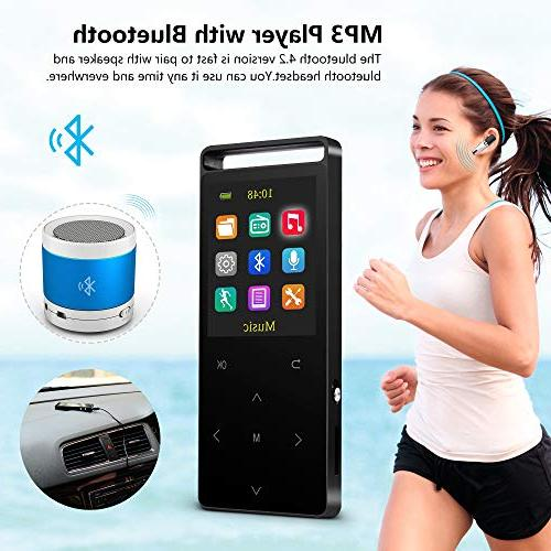 Grtdhx with with Radio/Voice Lossless Sound Alarm Clock, Touch Button, Sound with an Armband