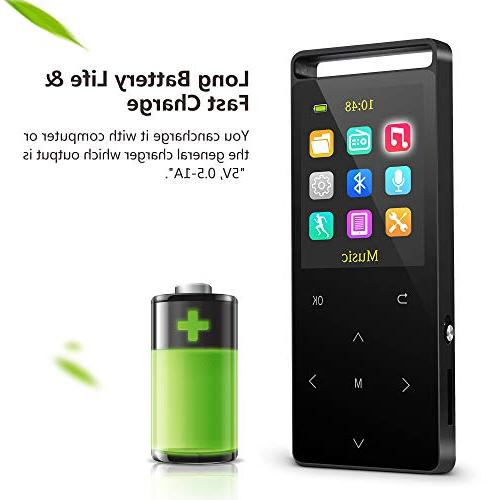 Grtdhx MP3 Player,MP3 Player with FM Recorder,HiFi Lossless Sound Quality,Metal, Sound Quality Earphone, an