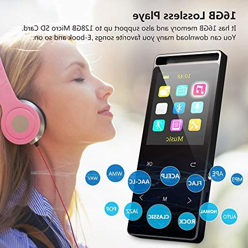 Grtdhx MP3 Player,MP3 with Music Player with FM Lossless Alarm Clock, Touch HD Sound Earphone, an Armband