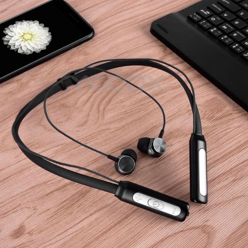 Neckband Bluetooth Headphones Magnetic Wireless Earbuds Earphones