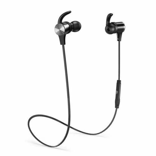 Bluetooth Headphones TaoTronics Wireless Magnetic Earbuds ap