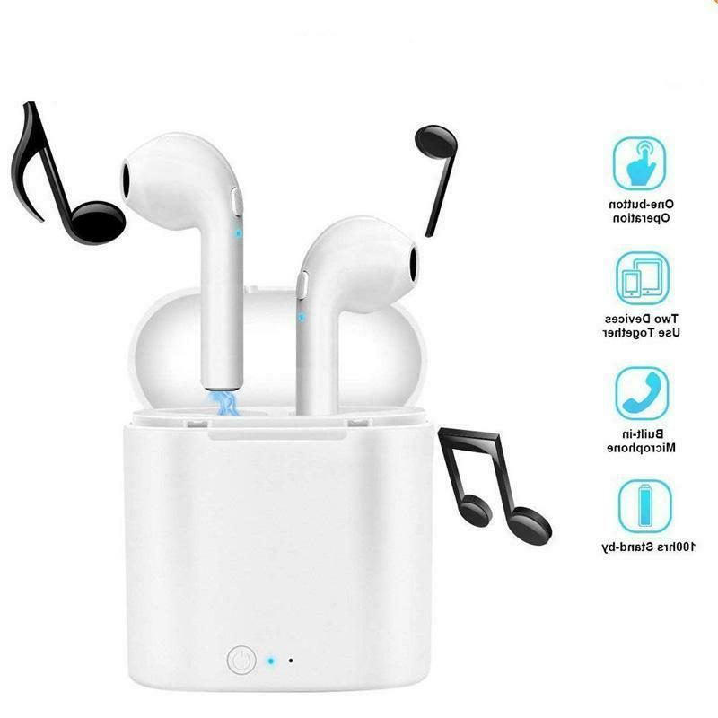 New Bluetooth Wireless Earbuds i7s TWS Two In Ear Earphones