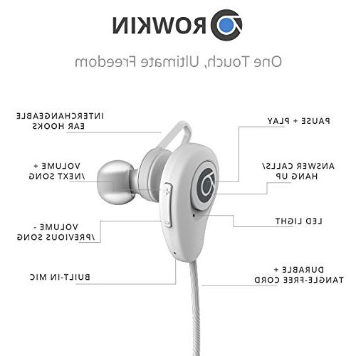 Rowkin Bluetooth Earbuds, Stereo & for Sports, Running, Samsung, iPhone.