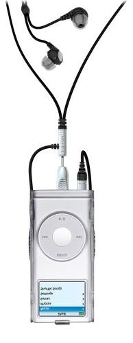 Rivet Stereo Earphone Lanyard with Grab for iPod nano 1G, 2G