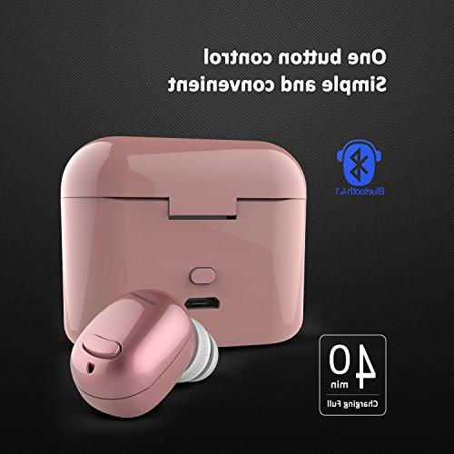 NENRENT S570+ Bluetooth Mini V4.1 Bluetooth Earphone with 400mAh Case iPad LG