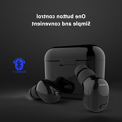 NENRENT Earbud,Smallest Mini V4.1 Wireless Earpiece Headset Twins with Charging Case for iPhone Samsung Galaxy LG