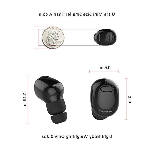 NENRENT Earbud,Smallest Mini Invisible Wireless Dual Headset Headphone Earphone with 400mAh Charging for Galaxy LG