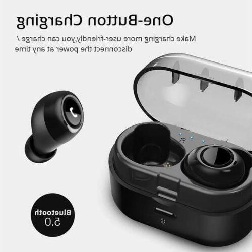 True Wireless Bluetooth 5.0 Sport Earphones Headset Waterproof