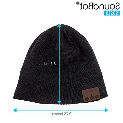 Stereo Wireless Smart Beanie Musical Knit Headphone Hat Speakerphone