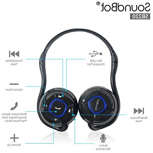 SoundBot Wireless Stereo Music HandsFree -