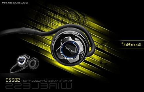 SoundBot Bluetooth Noise-Reduction Stereo Headphone Stream HandsFree w/ hrs Talk Playback 400 Standby Built-in Mic, Chrome