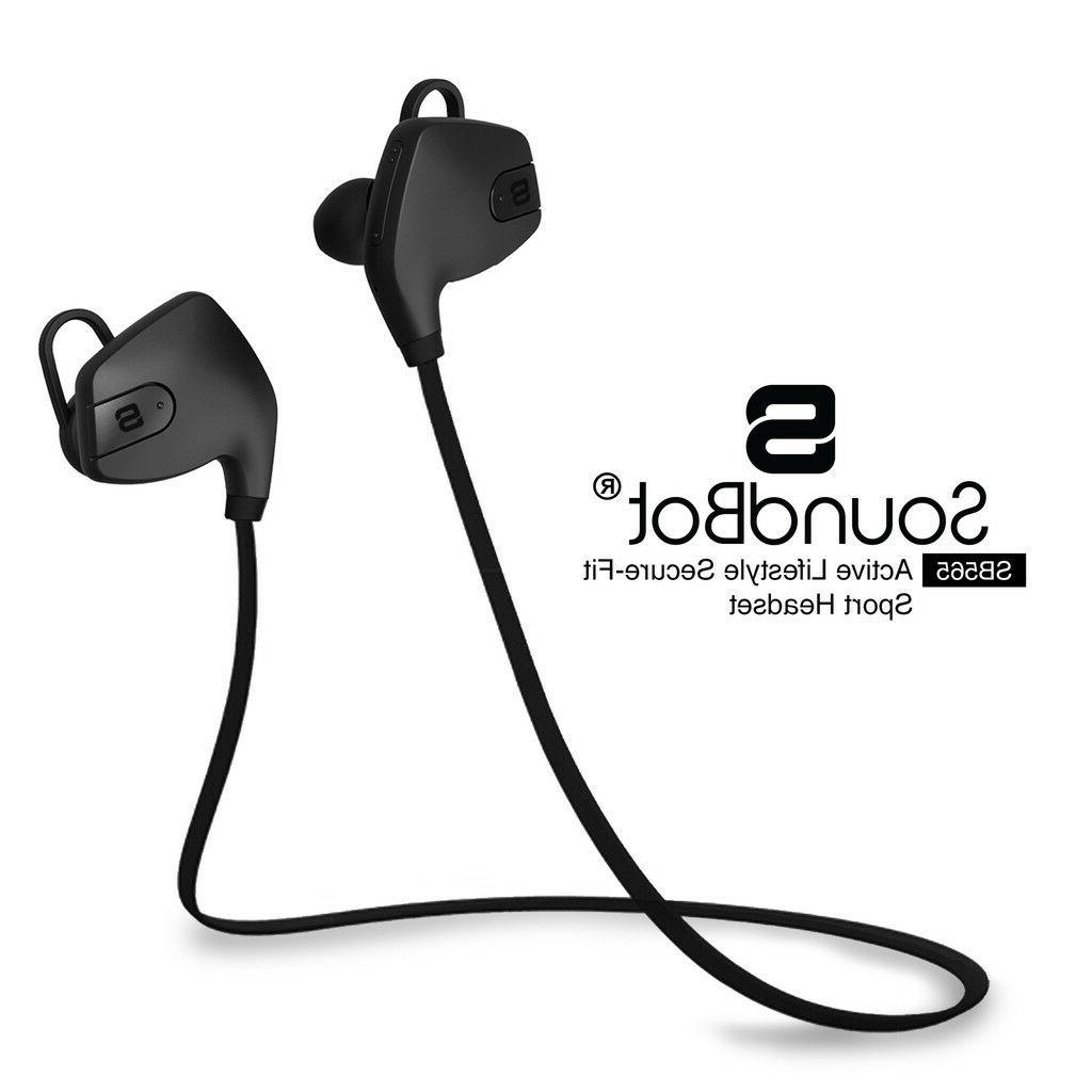 SoundBot SB565 Secure Wireless Fit Workout Exercise Headphon