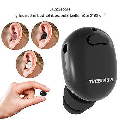 Nenrent Smallest Mini Bluetooth Wireless Headset Headphone E