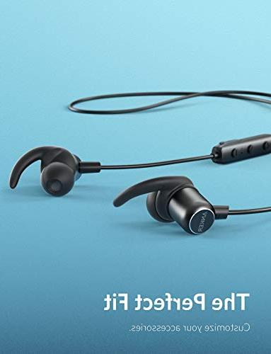 Anker Slim+ Headphones, Bluetooth 4.1 Stereo Earbuds with Accessories, Sports Headset with Metallic Housing & Mic