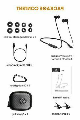 Sport Bluetooth Headphones Wireless Earbuds Magnetic with Mic Hours