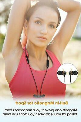 Sport Bluetooth Headphones Wireless Earbuds with Mic Hours