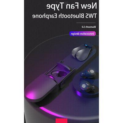 Sports Bluetooth Wireless Earphone In-Ear Headphone w/ Fan