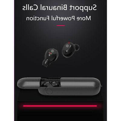 Sports Bluetooth Earbuds Wireless Earphone Stereo TWS with Fan