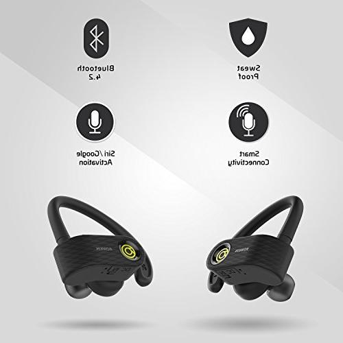 Rowkin Wireless Bluetooth Earbuds, Stereo Built-in Mic Reduction Earphones Sports, Running,