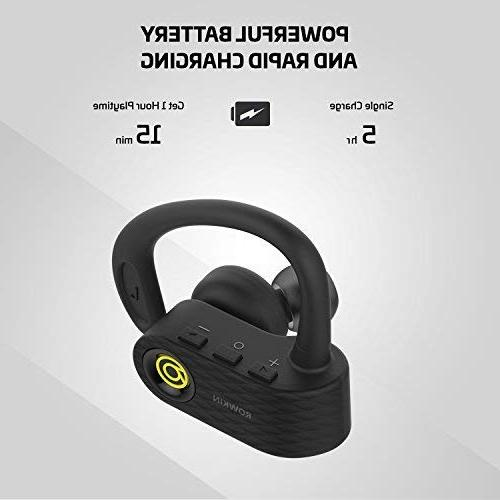 Wireless Headphones, Stereo Built-in Mic Reduction for Running,