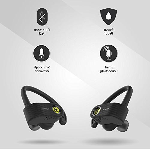 Rowkin True Headphones, Bluetooth Hands-Free Headset with Mic Earphones for Sports, and iPhone