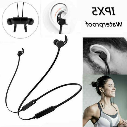 Sweatproof Bluetooth Headphones Headset Wireless Earbuds Sport Earphone