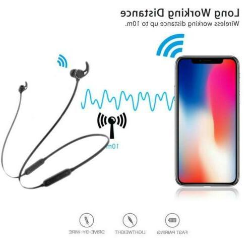 Sweatproof Bluetooth Headphones Wireless Sport Earphone