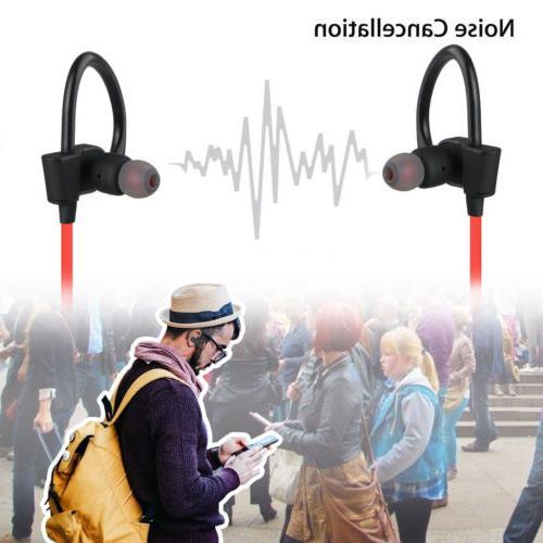 Sweatproof Headphones Wireless Sport Earphones Stereo Headset Earbuds