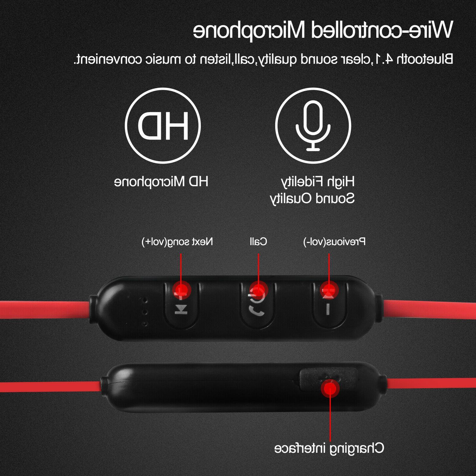 Sweatproof Bluetooth Headset Wireless Headphones In-Ear