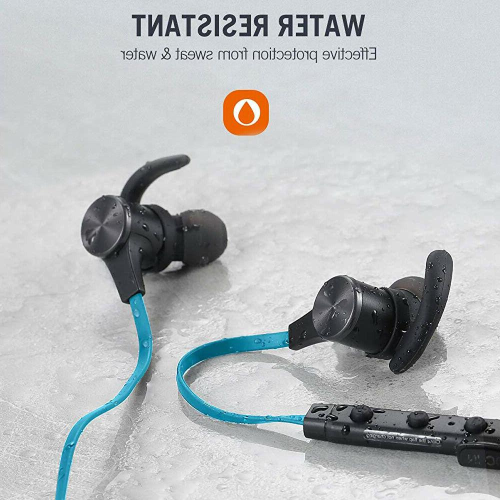 Sweatproof Wireless Bluetooth Headphones Stereo Earbuds