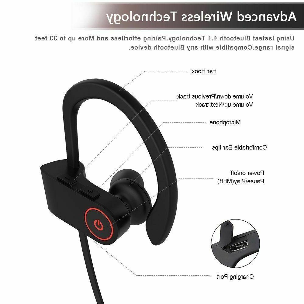 Sweatproof Wireless Sports Earphones In Headphones Earbuds